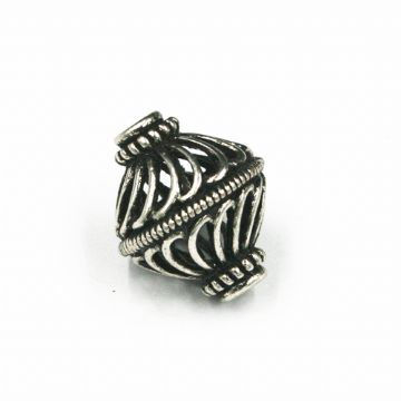6pcs x 16*19mm spiral bead 002- antique silver plated - 1606068